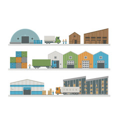 warehouse logistic buildings vector image