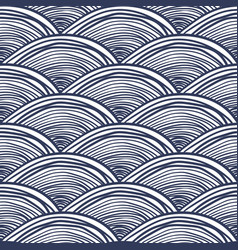 waves background abstract seamless pattern vector image