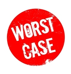 Worst Case rubber stamp vector