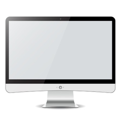 Computer display isolated on white in imac style vector image