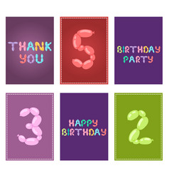 english balloon colorful birthday cards vector image