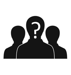 group of people with unknown personality icon vector image