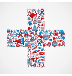 Marketing US elections icon in cross vector image