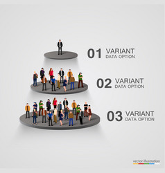 people on a pedestal in the hierarchy vector image vector image