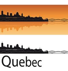 Quebec skyline in orange background vector image