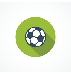 Soccer modern flat icon vector image