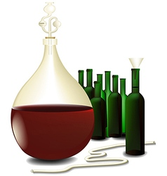 Wine making vector image vector image