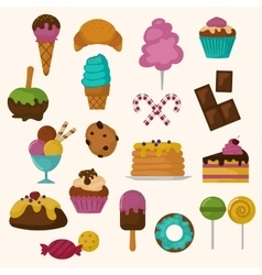 Cakes icons set on white background vector image vector image