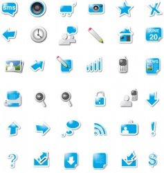 digital media icons vector image vector image