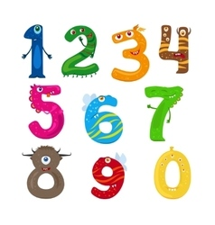 Monster funny numbers vector image