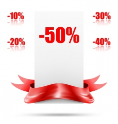 retail sale tags vector image