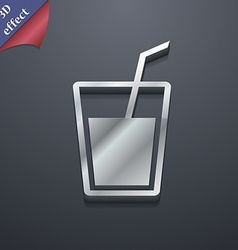 Soft drink icon symbol 3D style Trendy modern vector image