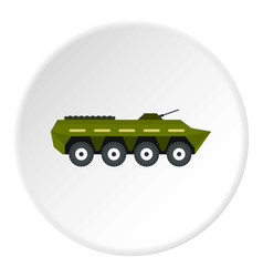 Armoured troop carrier icon circle vector