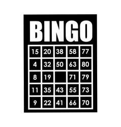 bingo card isolated icon design vector image