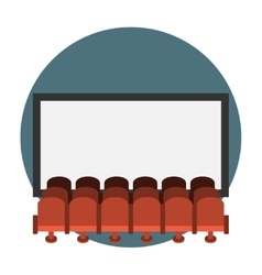 Cinema hall flat icon vector image vector image
