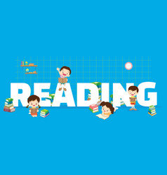 reading concept vector image