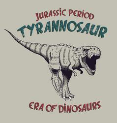 tyrannosaurus rex angry predator vector image