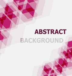 Abstract pink hexagon overlapping background vector image vector image