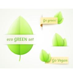 eco labels set vector image