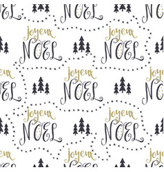 hand drawn seamless pattern with christmas type vector image