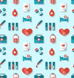 Seamless Pattern with Flat Medical Icons vector image vector image