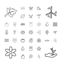 37 eco icons vector