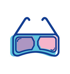 3d glasses to see movie in cinema vector