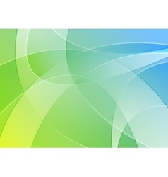 Abstract blue and green colorful wavy background vector image