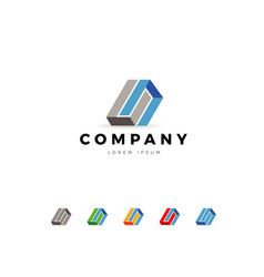 abstract business company logo template vector image