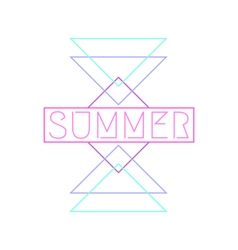 Abstract Geometric Summer Design vector