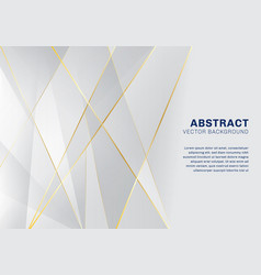 abstract polygonal pattern luxury on white and vector image