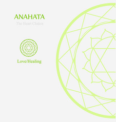 Anahata- heart chakra which stands for love vector