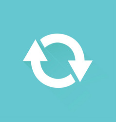 arrows turning in circle web icon recycle icon vector image