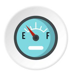 Automobile fuel sensor icon circle vector