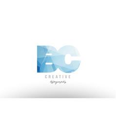 Bc b c blue polygonal alphabet letter logo icon vector