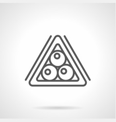 billiard balls triangle simple line icon vector image
