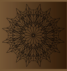 black delicate circular pattern mandala on a vector image
