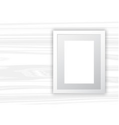 blank frame on white wood background vector image