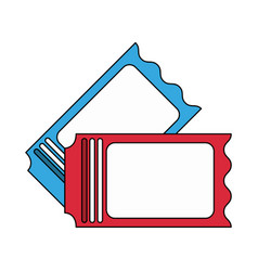 Blank tickets icon image vector