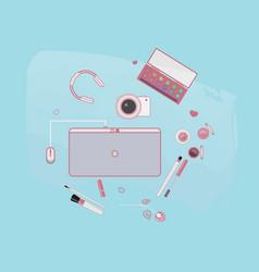 bloger beauty girls video vector image