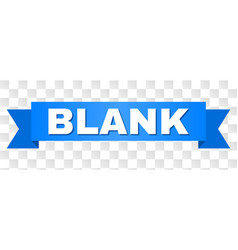 Blue ribbon with blank caption vector