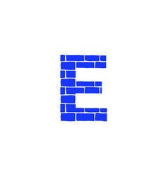 Brick logo letter e vector