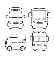 bus transportation design vector image