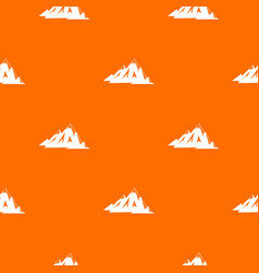 Canadian mountains pattern seamless vector