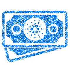 Cardano banknotes icon grunge watermark vector