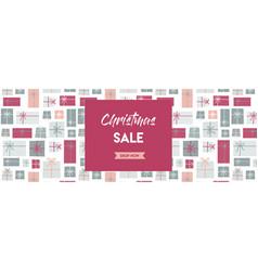christmas sale banner christmas present vector image vector image