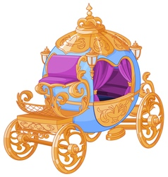 Cinderella fairy tale carriage vector