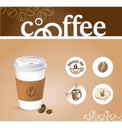 Coffee creative background vector image