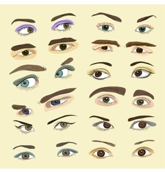 Colored Eyes set vector