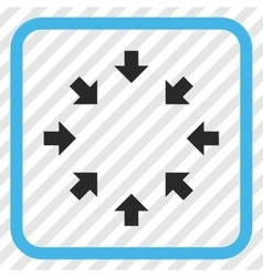 Compact Arrows Icon In a Frame vector image